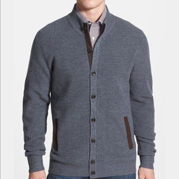 Peter Millar Other - Peter Millar | Wool Blend Cardigan W/Elbow Patch